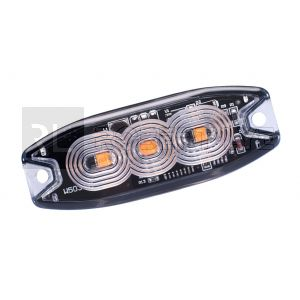 Feu de pénétration orange extra plat 3 Leds - 12/24 Volts - IP67