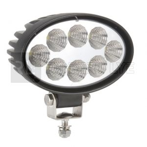 Phare de travail ovale 8 leds - 10/30 Volts - L 142 x H 142 x Ep 62 mm - IP67