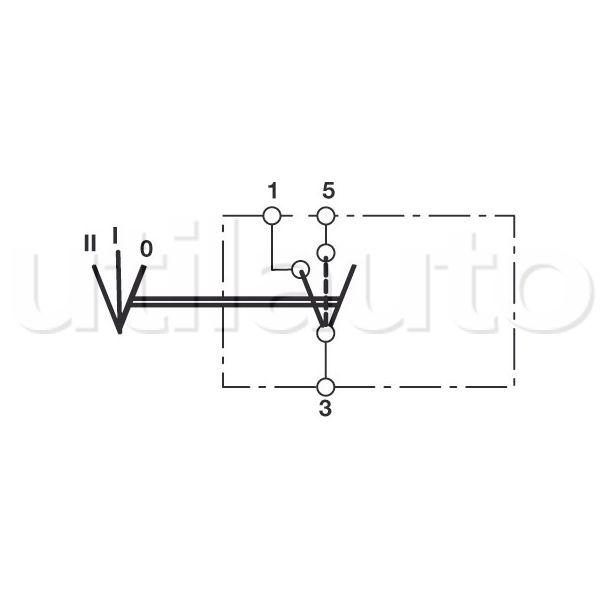 interrupteur 3 positions marche arr t inverseur commande combin e robert lye. Black Bedroom Furniture Sets. Home Design Ideas