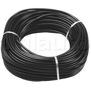 Gaine souplisseau noire en pvc charg aspect satin - Cable electrique enterre sans gaine ...