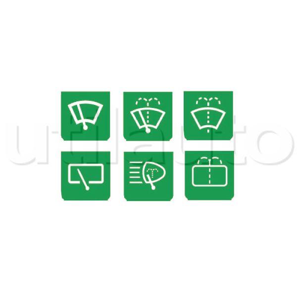 plaquette avec symbole essuie glace lave vitre pour interrupteur et voyant de contr le 1er. Black Bedroom Furniture Sets. Home Design Ideas