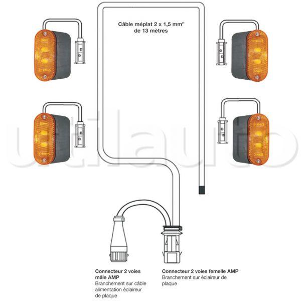 Schema Elettrico Nissan Cabstar : Kit électrique volts pour bennes plateaux renault