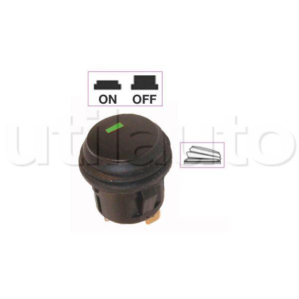 Interrupteur contacteur bouton poussoir on off avec voyant led robert lye - Interrupteur bouton poussoir ...