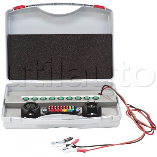 valise de contr le de l clairage pour remorques 12 volts avec connecteur 7 ou 13 p les robert lye. Black Bedroom Furniture Sets. Home Design Ideas